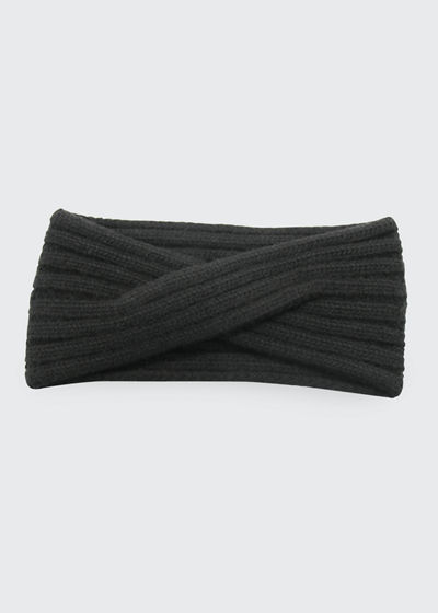 Ribbed-Knit Cashmere Headband