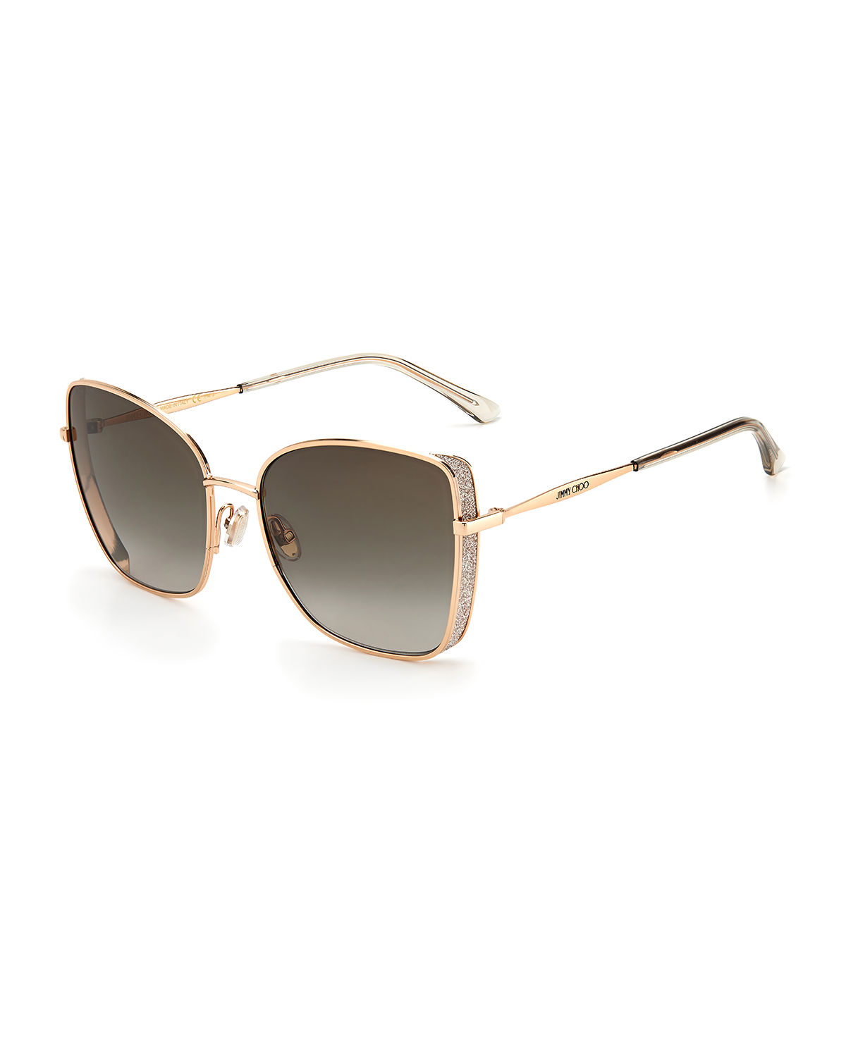 Jimmy Choo ALEXIS STAINLESS STEEL BUTTERFLY SUNGLASSES