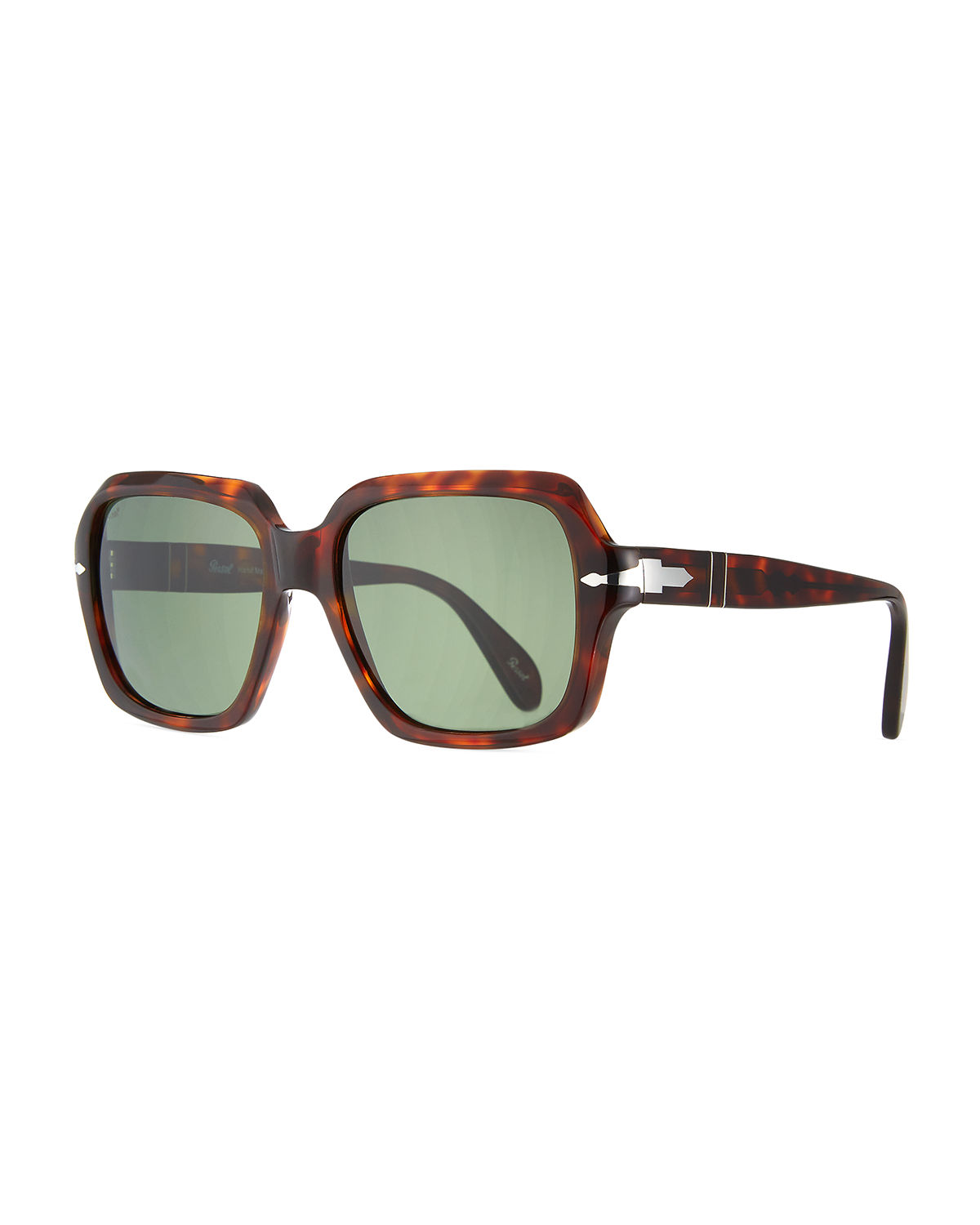 Persol OVERSIZED SQUARE ACETATE SUNGLASSES