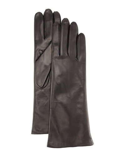 Four-Button Leather Gloves