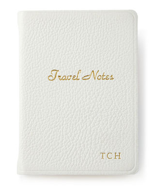 GRAPHIC IMAGE Travel Notebook, Personalized in White