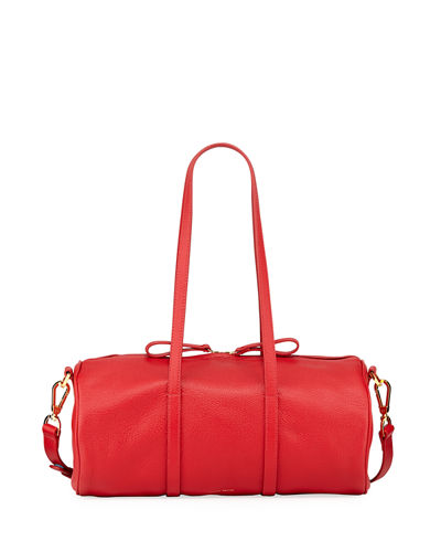 Pebbled Leather Mini Duffel Bag