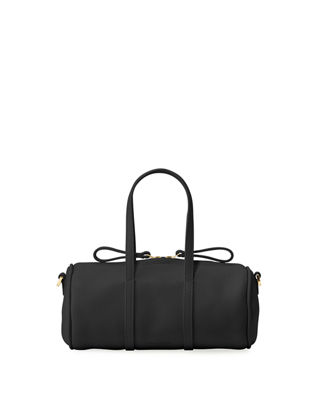 PEBBLED MINI MINI LEATHER DUFFLE BAG