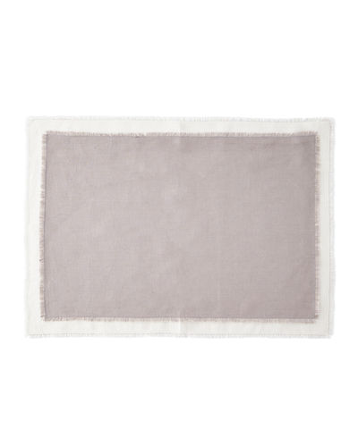 Farrell Colorblock Linen Placemats  Set of 4