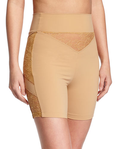 Shape Allure Lace-Panel Shorts