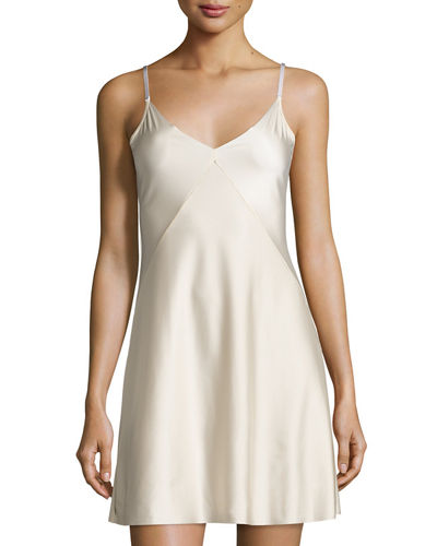 Luxe Satin Princess Raw-Cut Slip