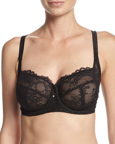 Chrystalle Full-Figure Floral Lace Underwire Bra