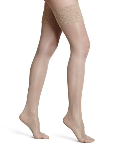 Satin Touch Stay-Up Thigh-Highs