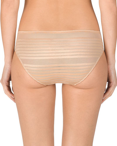 Precision Striped Mesh Briefs