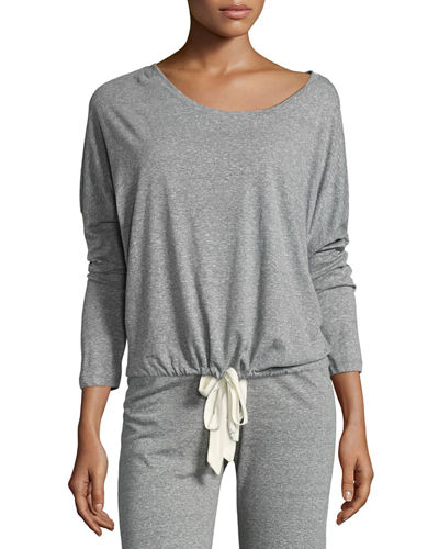 Heather Slouchy Drawstring Lounge Tee