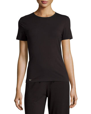 LA PERLA NEW PROJECT CREWNECK LOUNGE TEE, BLACK