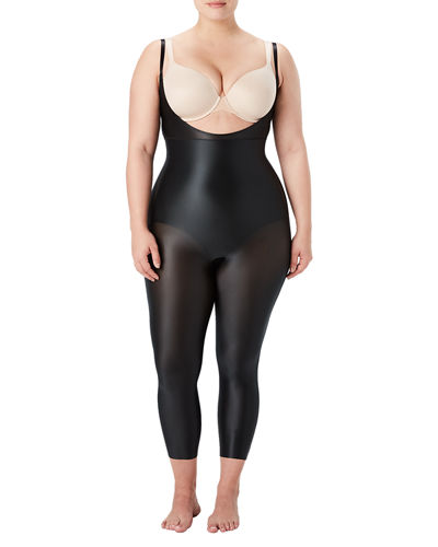 Suit Your Fancy Open-Bust Catsuit, Plus Size