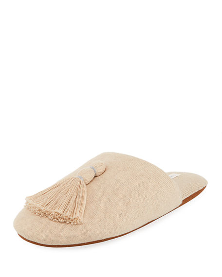 Skin Knits VARA TASSELED KNIT SLIPPER WITH COOLING MATERIAL