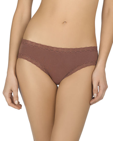 Natori Pants Bliss Cotton Girl Briefs, RED CLAY