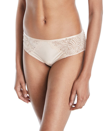 Pyramide Lace-Inset Hipster Briefs