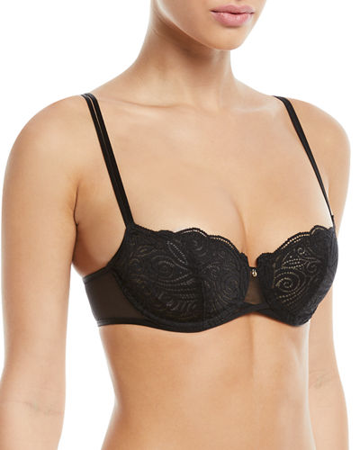 2a8ed2c962 Chantelle Pyramide Unlined Lace Demi Bra