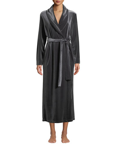 Natalie Long Velvet Robe