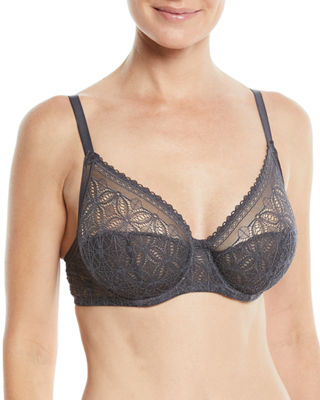 ELSE Chloe High-Apex Full-Cup Underwire Bra in Charcoal