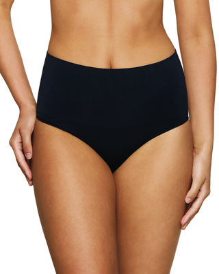 NANCY GANZ Power Play High-Waist Seamless Shaping Briefs in Black