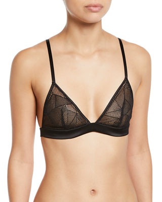 Ny Brooklyn Lace Soft Triangle Bra in Black