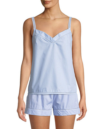 Ladder Stitch-Trim Pyjama Camisole