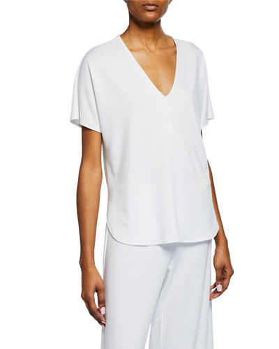 Zen V-Neck High-Low Lounge Top