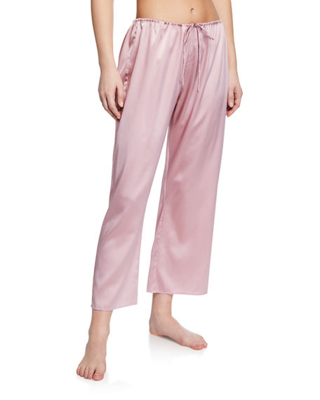 Skin Pants ROSETTA SILK ANKLE LOUNGE PANTS