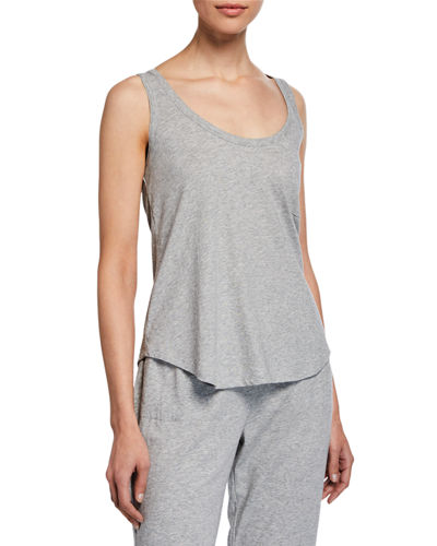 Orfelia Scoop-Neck Cotton Tank Top