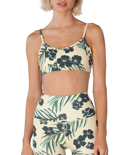 Beyond Yoga Olympus Palm-Print Classic V-Neck Sports Bra
