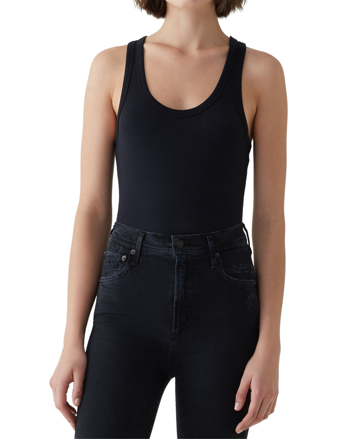 Agolde Suits RIBBED TANK BODYSUIT