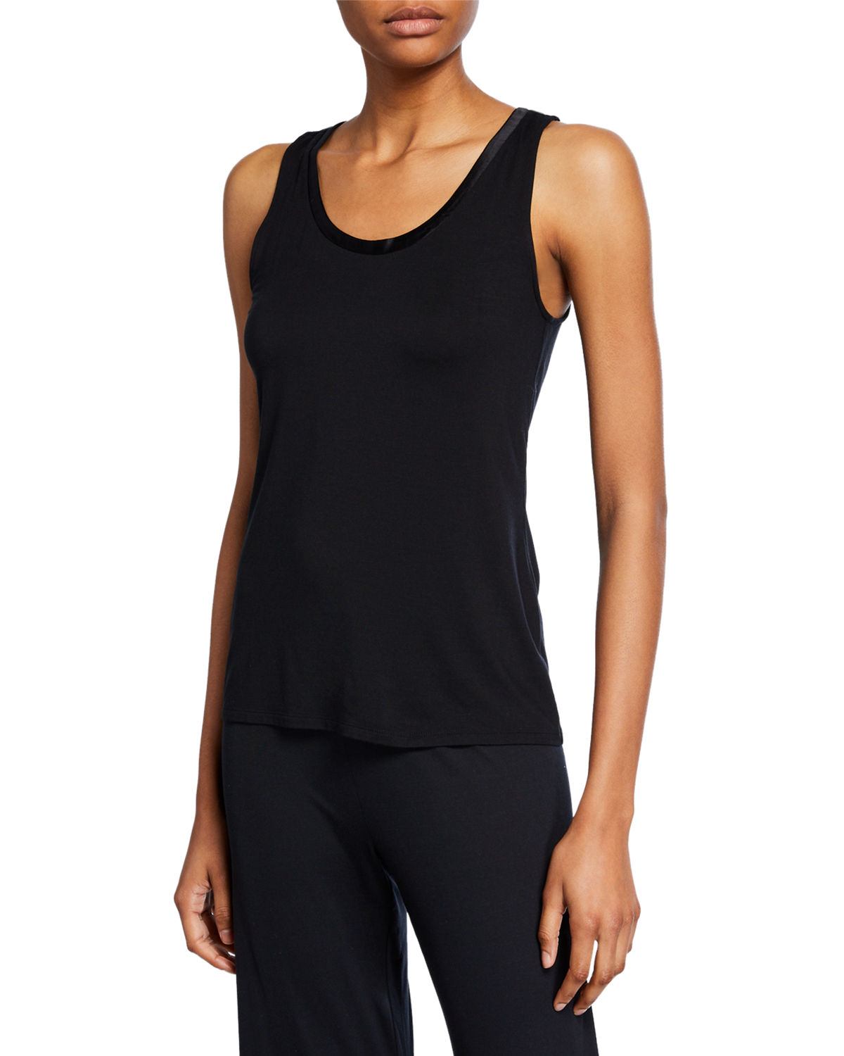 Josie Natori Tops JERSEY ESSENTIALS SCOOP-NECK TANK