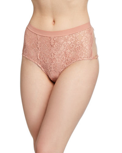 Easy Access High-Waisted Lace Briefs