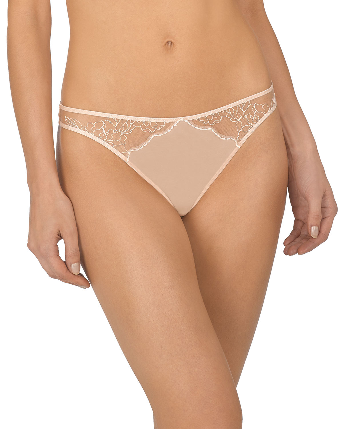 Natori Tops ETHEREAL LACE-INSET THONG