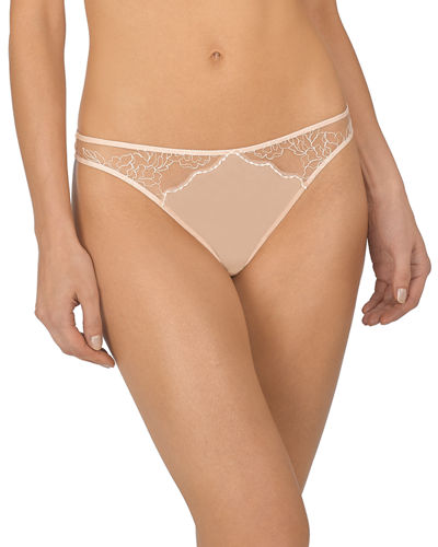 Ethereal Lace-Inset Thong