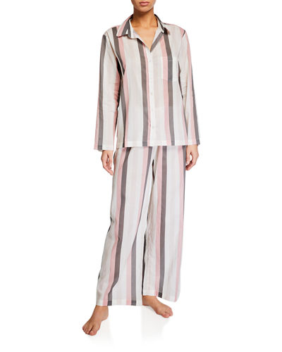 Striped Cotton Classic Pajama Set