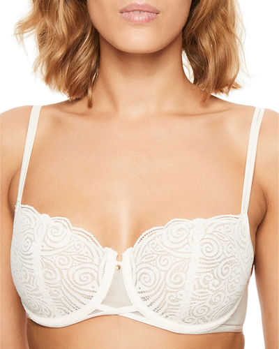 Pyramide Unlined Lace Demi Bra