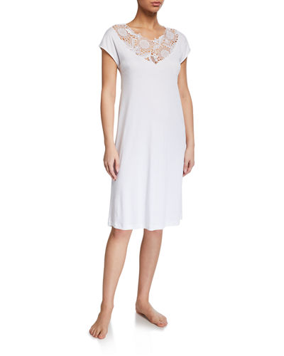Floral Cap-Sleeve Nightgown