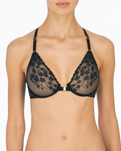 Cherry Blossom Front Close Unlined Bra