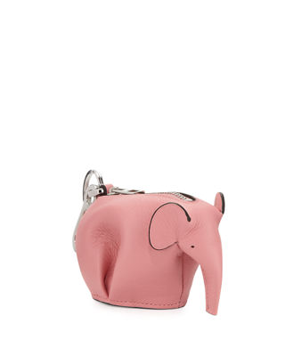 LOEWE Elephant Leather Coin Purse, 3900Candy(