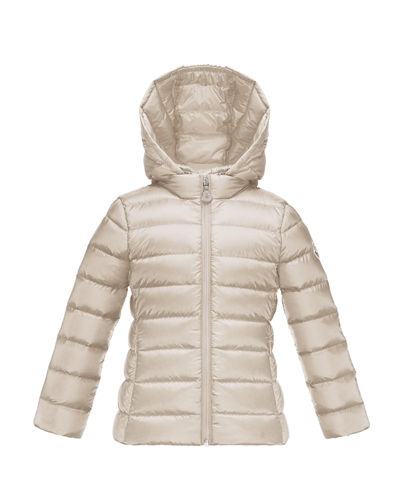 Moncler Iraida Hooded Lightweight Down Puffer Jacket, Size