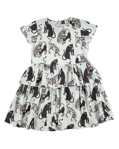 Caitlin Tiger-Print Dress,  Size 2T-12