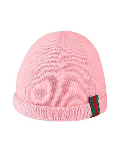 8322a0105cf Kids  Knit Web Trim Beanie Hat Quick Look. Gucci