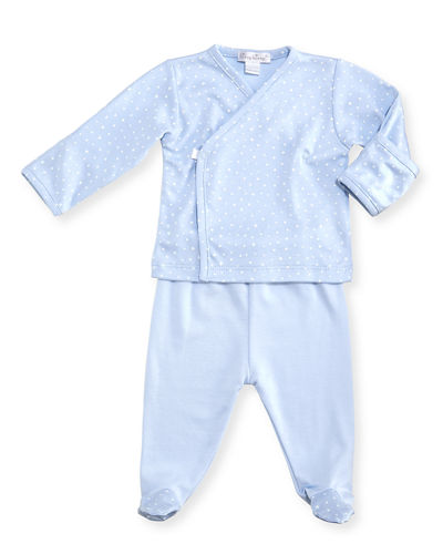 Starry Night Printed Footed Playsuit Set, Size Newborn-6 Months