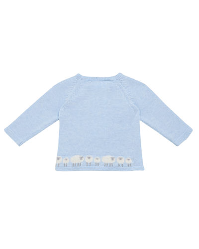 Knit Lamb Sweater w/ Footed Leggings, Size 1-6 Months