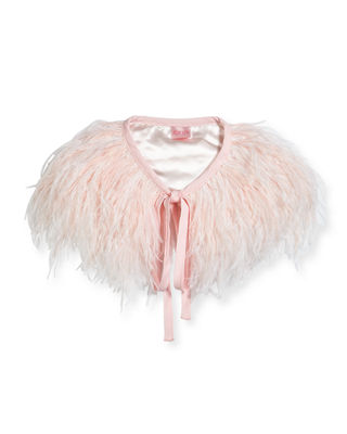 FEATHER CAPELET, KID GIRLS' SIZES