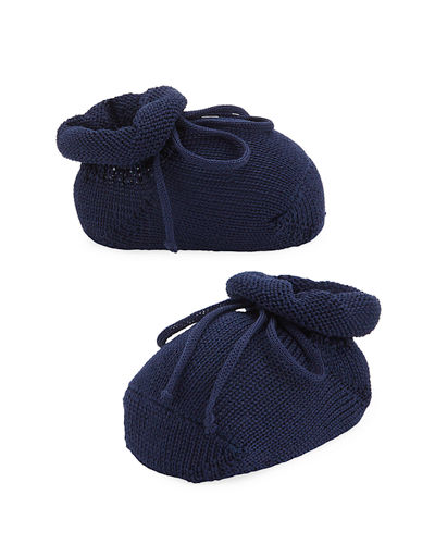 Basic Cotton Bootie w/ Bow  Baby