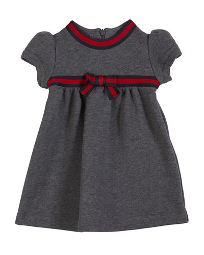 Short-Sleeve Web-Trim Dress  Size 6-36 Months