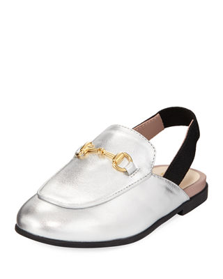 PRINCETOWN JUNIOR LEATHER HORSEBIT MULE SLIDE, TODDLER/YOUTH SIZES 10T-2Y