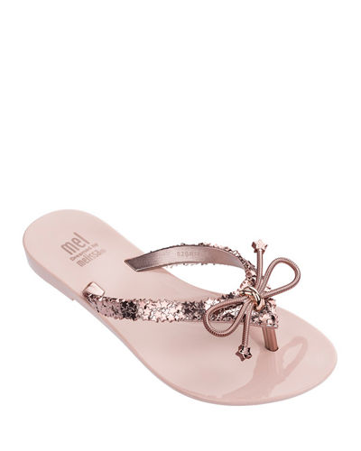 Mini Melissa Mel Harmonic Elements Star Thong Sandal,