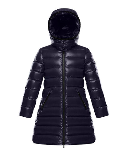 Moka Quilted Puffer Coat w/ Hood, Size 4-6 Quick Look. Moncler